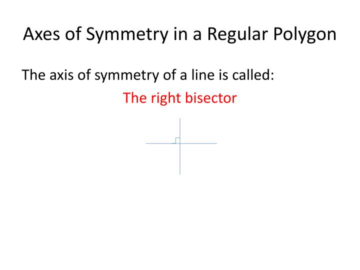 Axes of Symmetry in a Regular Polygon