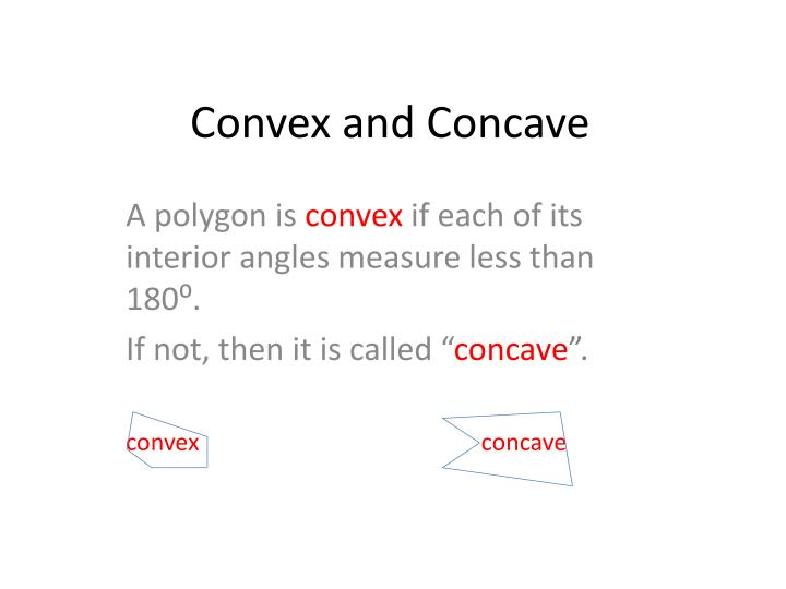 Convex and Concave