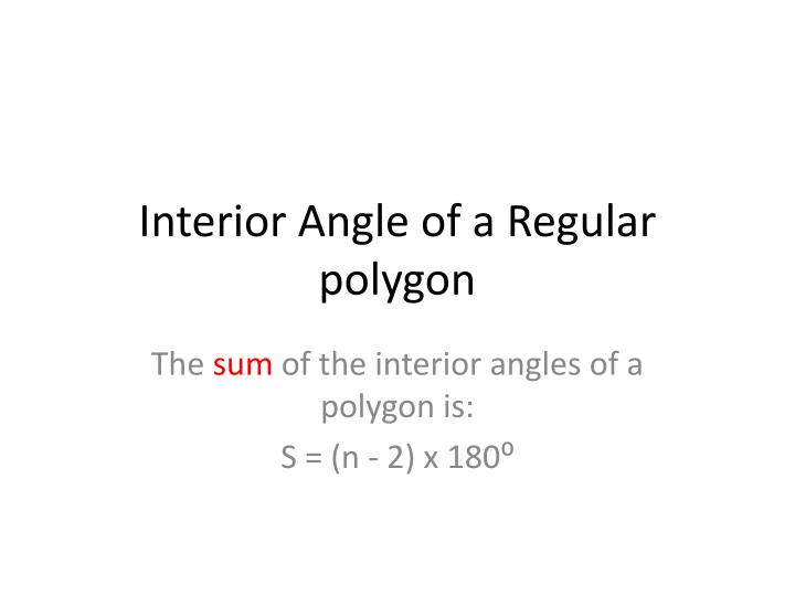 Interior Angle of a