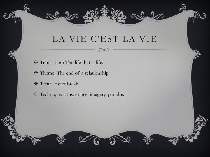 LA Vie C