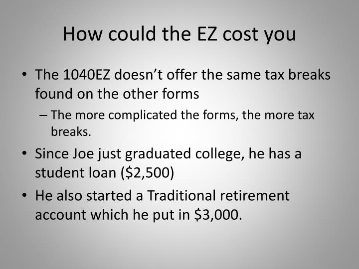 How could the EZ cost you