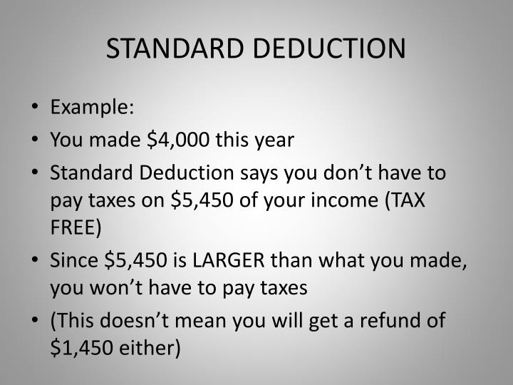 STANDARD DEDUCTION