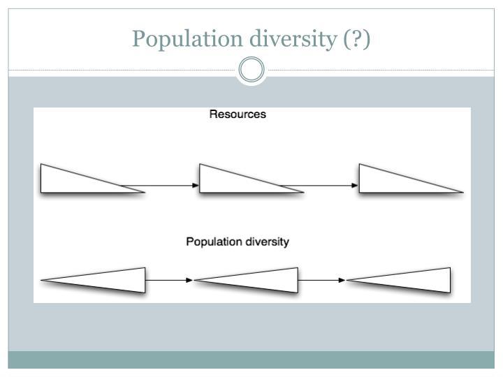 Population diversity (?)