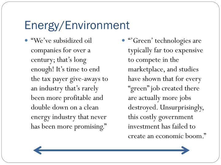 Energy/Environment