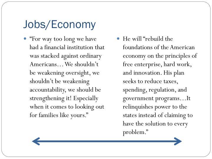 Jobs/Economy