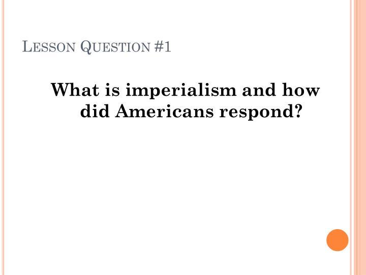 Lesson Question #1