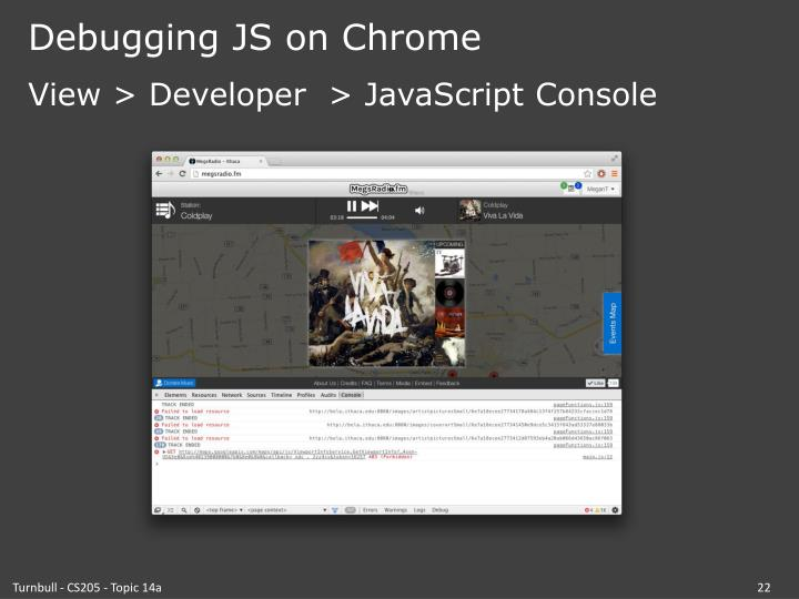 Debugging JS on Chrome