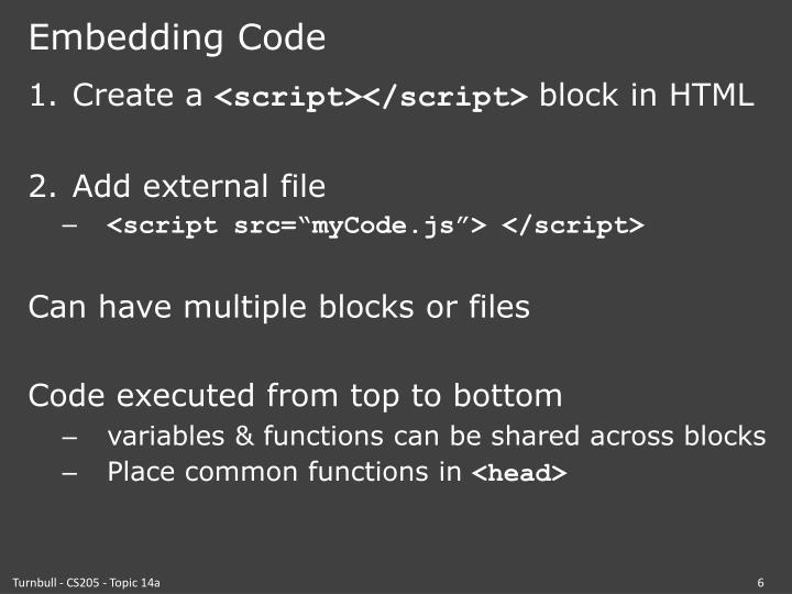 Embedding Code