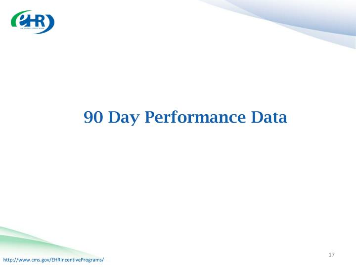90 Day Performance Data