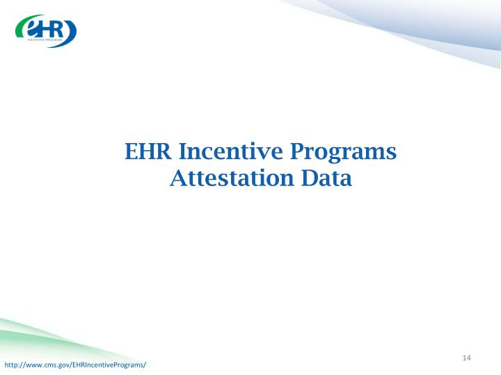 EHR Incentive Programs Attestation Data