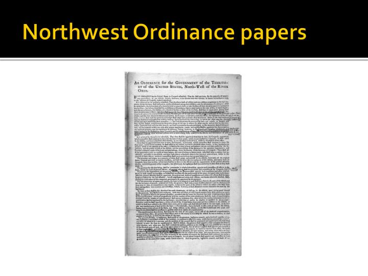 Northwest Ordinance papers