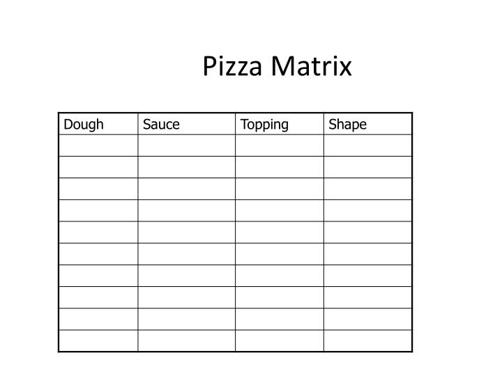 Pizza matrix