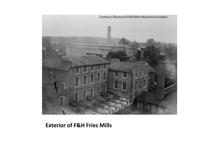Exterior of F&H Fries Mills