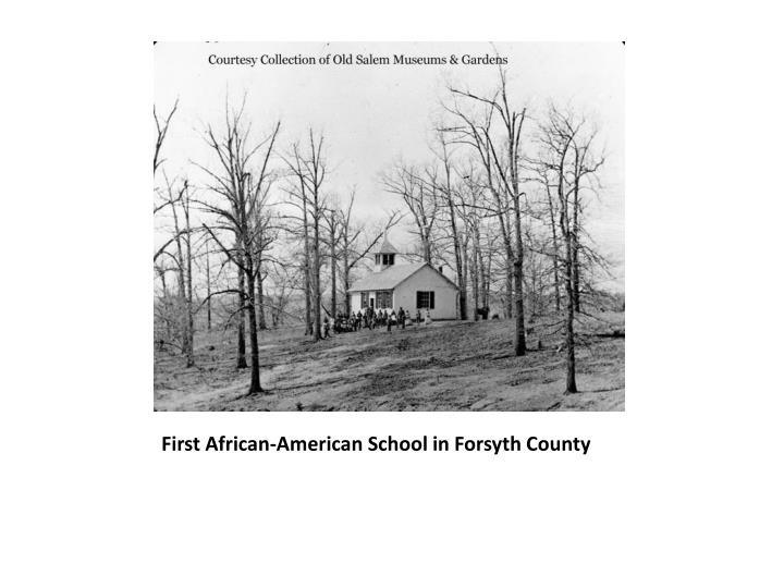 First African-American School in Forsyth County