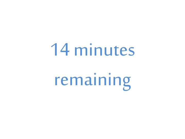 14 minutes remaining