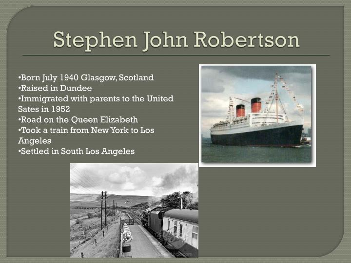 Stephen John Robertson