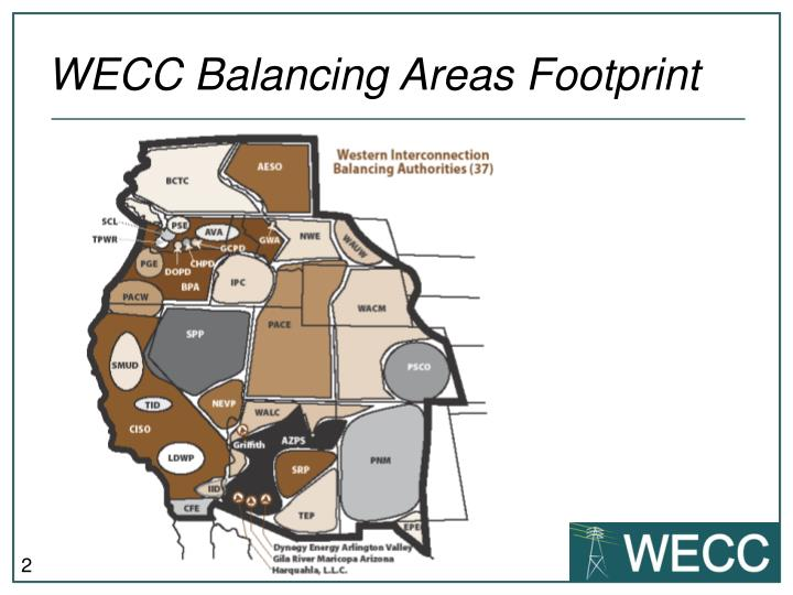 Wecc balancing areas footprint