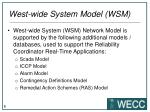 west wide system model wsm2