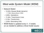 west wide system model wsm3