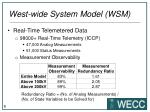 west wide system model wsm4