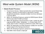 west wide system model wsm5