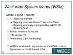 west wide system model wsm8