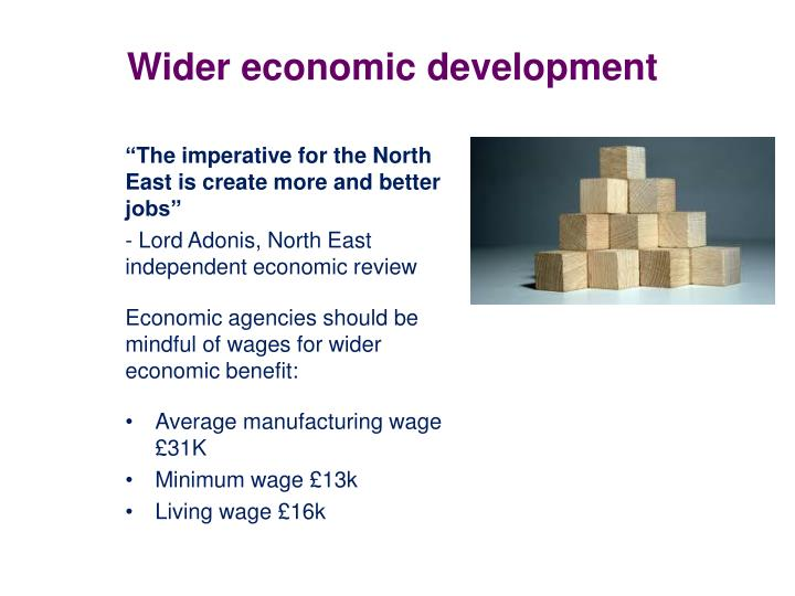 Wider economic development