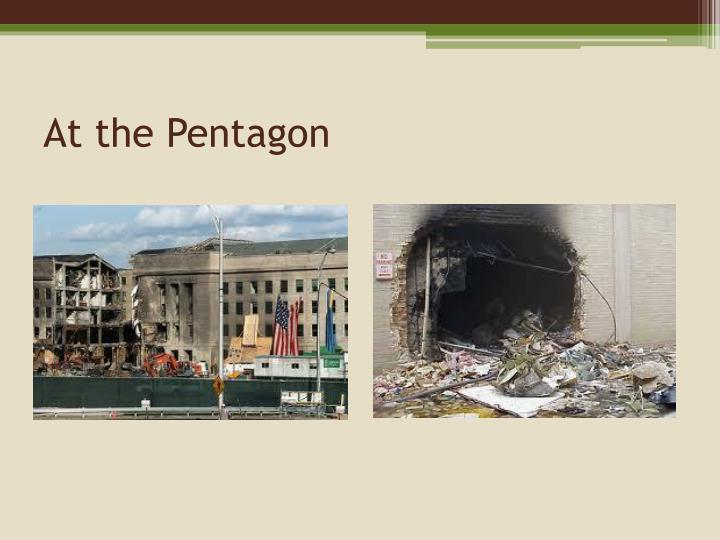 At the Pentagon