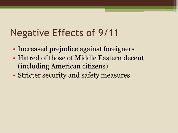 Negative Effects of 9/11
