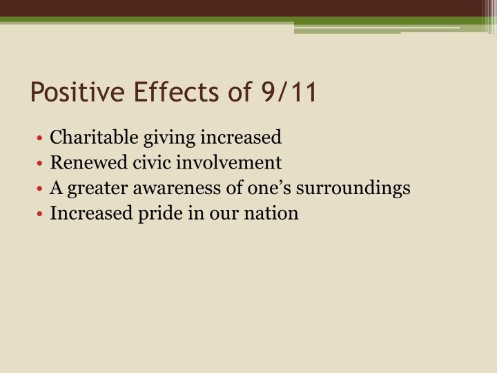 Positive Effects of 9/11
