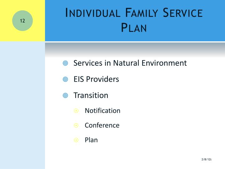 Individual Family Service Plan