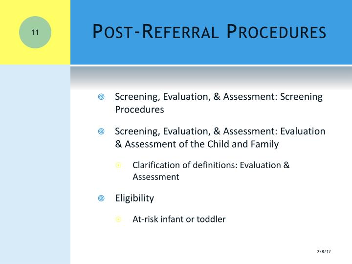 Post-Referral Procedures