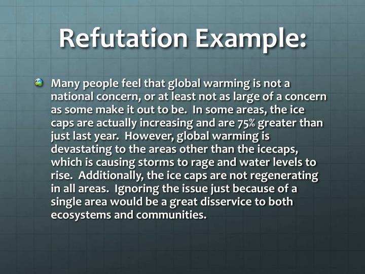 Refutation Example: