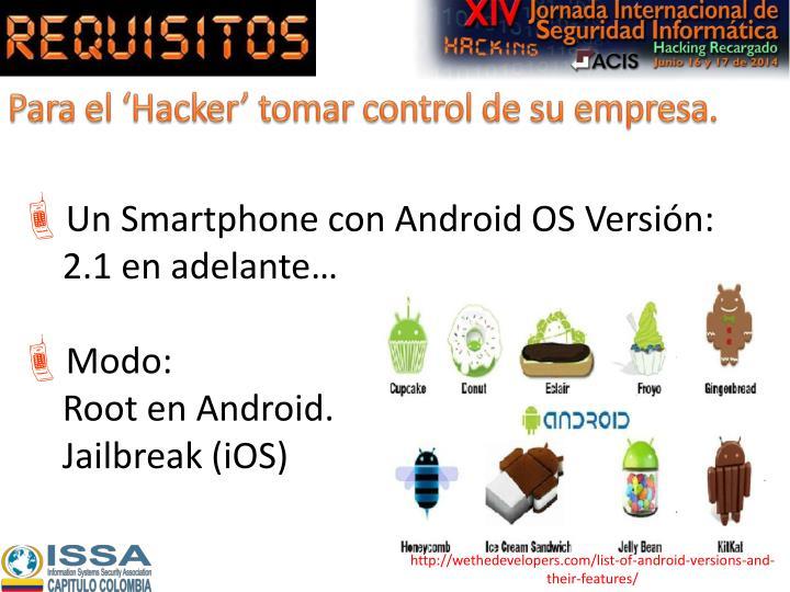 Para el 'Hacker' tomar control de su empresa.
