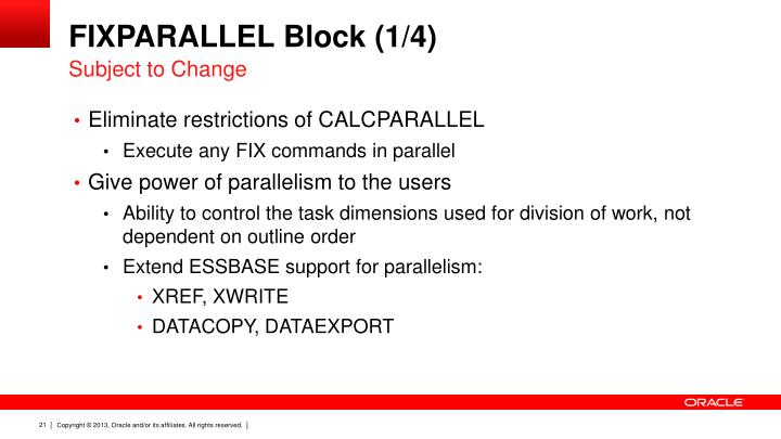 FIXPARALLEL Block (1/4)