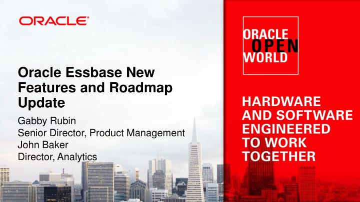 Oracle essbase new features and roadmap update