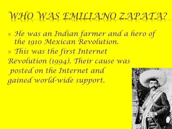 Who was emiliano zapata