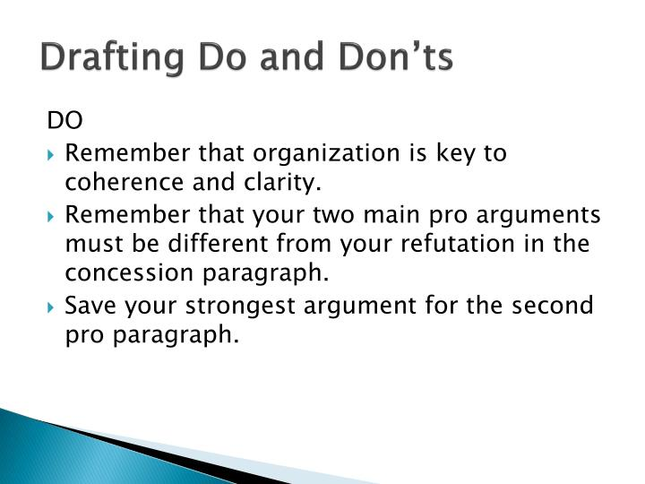 Drafting Do and Don'ts