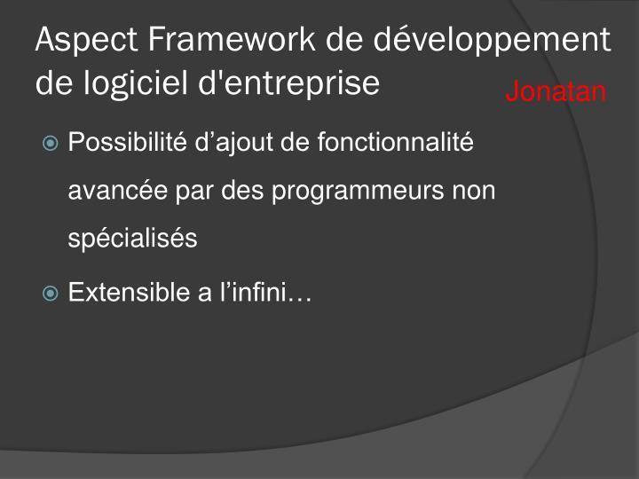 Aspect Framework de développement de logiciel d'entreprise