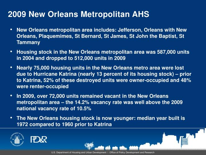 2009 New Orleans Metropolitan AHS