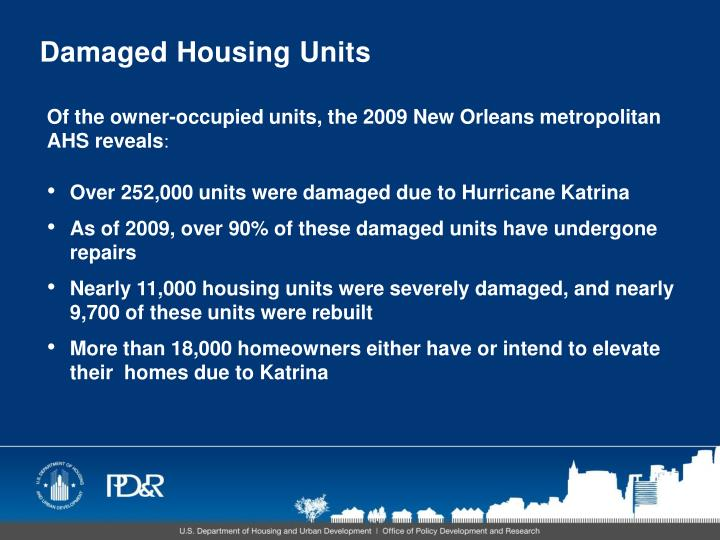 Damaged Housing Units