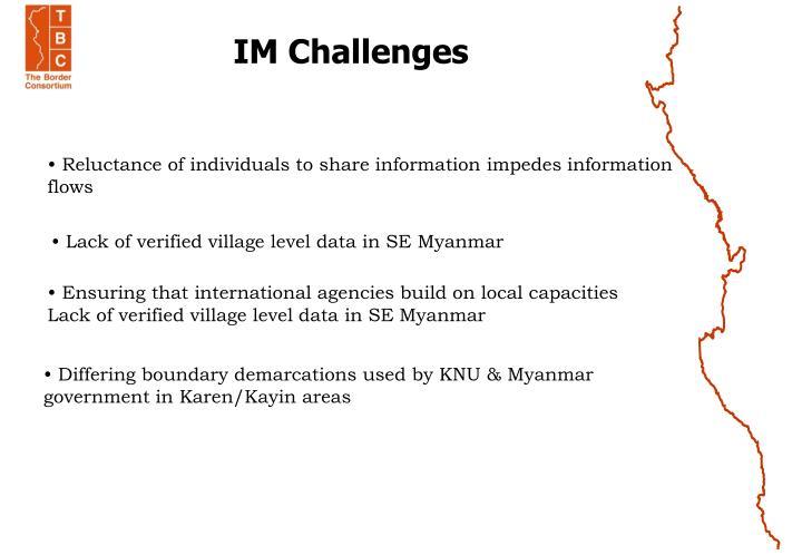 IM Challenges