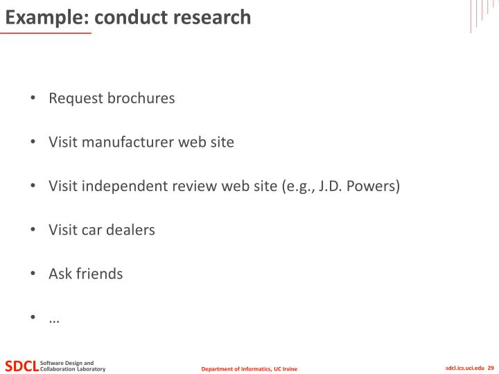 Example: conduct research