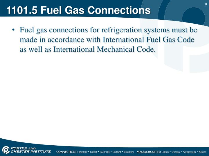 1101.5 Fuel Gas Connections