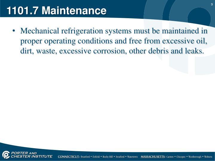 1101.7 Maintenance