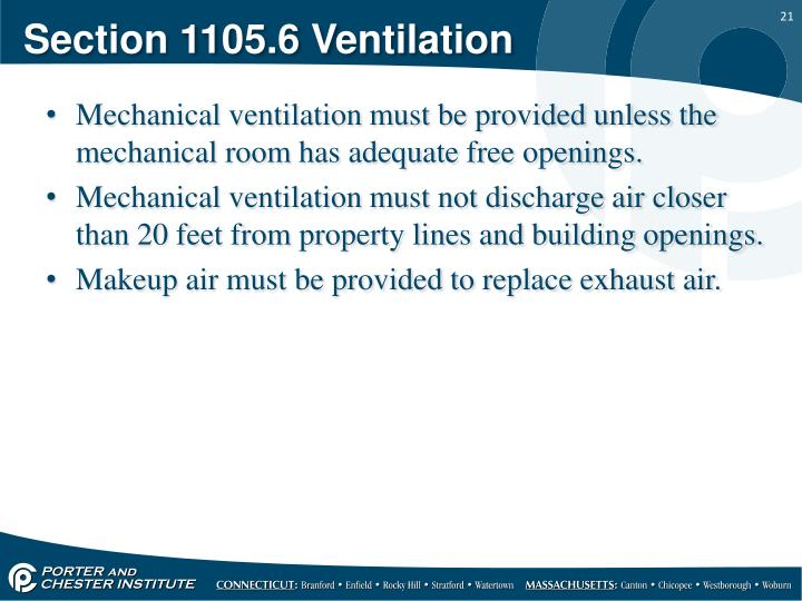 Section 1105.6 Ventilation