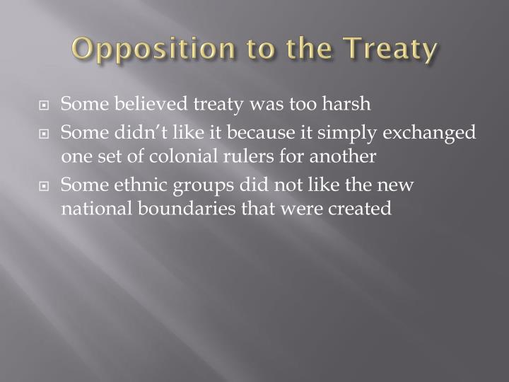 Opposition to the Treaty