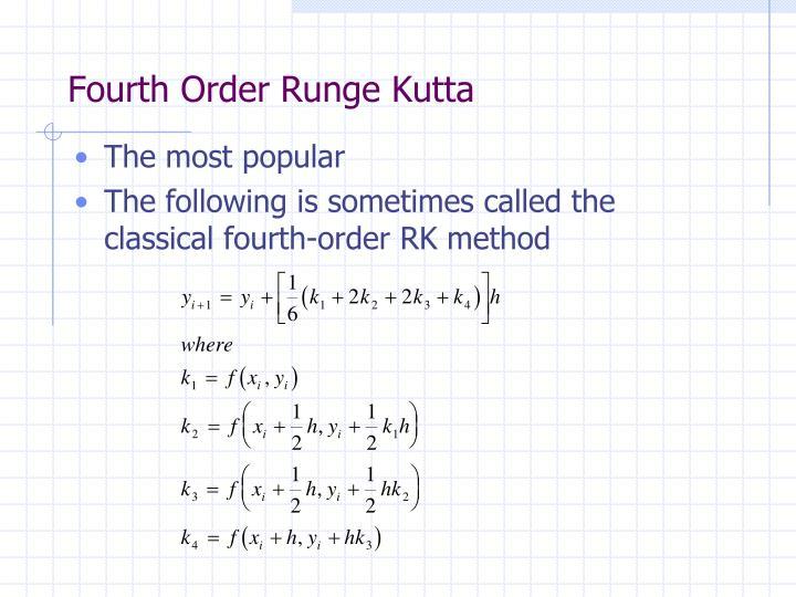 Fourth Order Runge Kutta