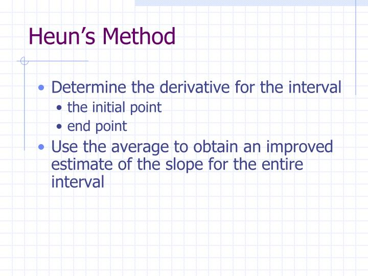 Heun's Method