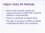 higher order rk methods